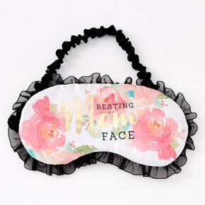 Resting Mom Face Floral Sleeping Mask - Pink,