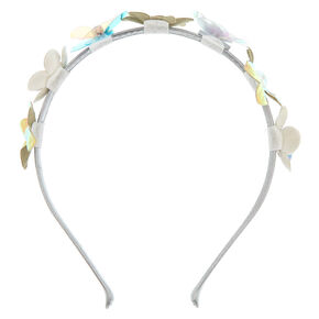 Iridescent Faux Flower Headband,