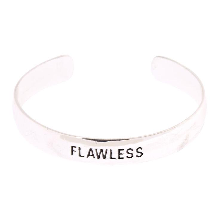 Silver-Tone FLAWLESS Cuff Bracelet,
