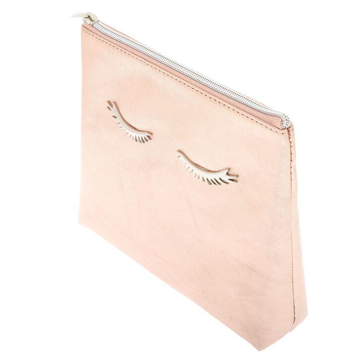Eyelashes Makeup Bag - Rose Gold,