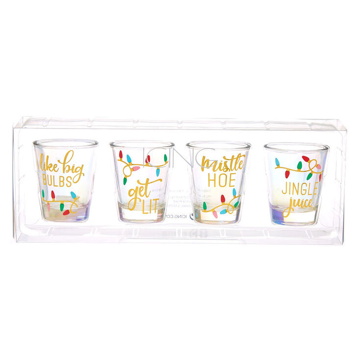 Christmas Shot Glasses - 4 Pack,