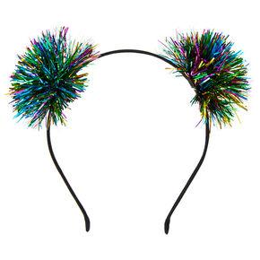 Rainbow Tinsel New Years Eve Headband,