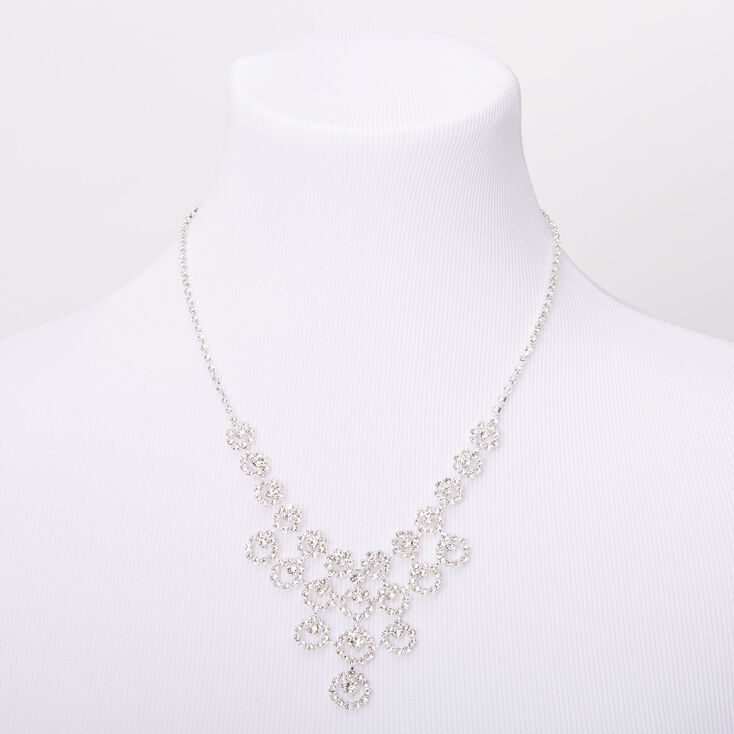 Silver Rhinestone Bubbly Jewelry Set - 2 Pack,