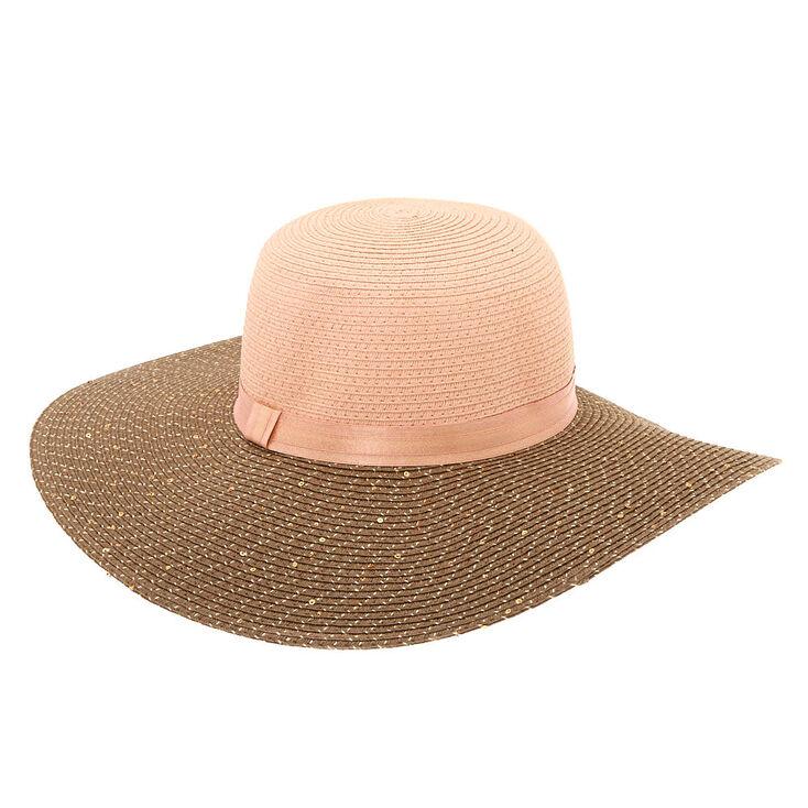 Sequin Floppy Hat - Blush,
