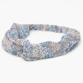 Pastel Floral Twisted Headwrap - Mint,
