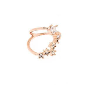 Rose Gold Cubic Zirconia Constellation Midi Ring,