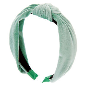 Velvet Knotted Headband - Mint,
