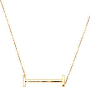 Oversized Initial Pendant Necklace - I,