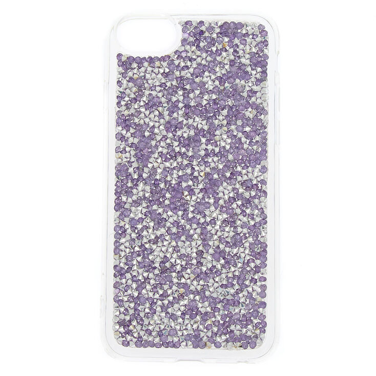 Crushed Glitter Phone Case - Purple,
