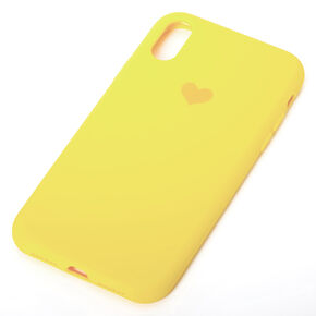 Bright Yellow Heart Phone Case - Fits iPhone XR,