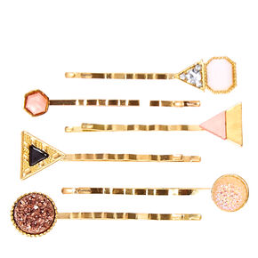 Blush And Gold Triangle Bobby Pins,