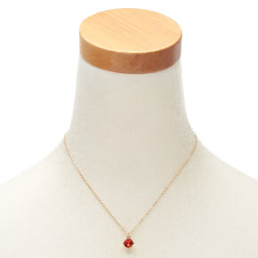 July Birthstone Pendant Necklace - Ruby,
