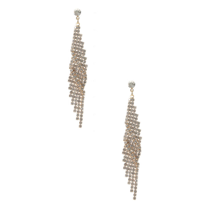 Crystal Geometric Wing Earrings,