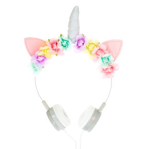 Unicorn Floral Headphones,