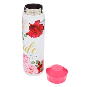 Bride Floral Water Bottle - Pink,