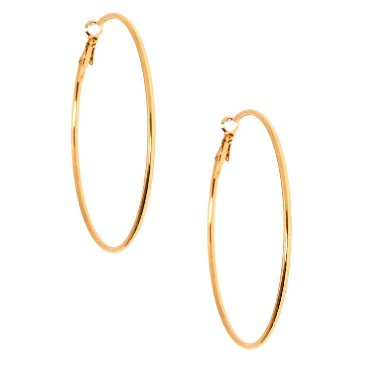 Gold Edged Hoop Earrings,