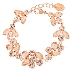 Rose Gold Rhinestone Vine Chain Bracelet,