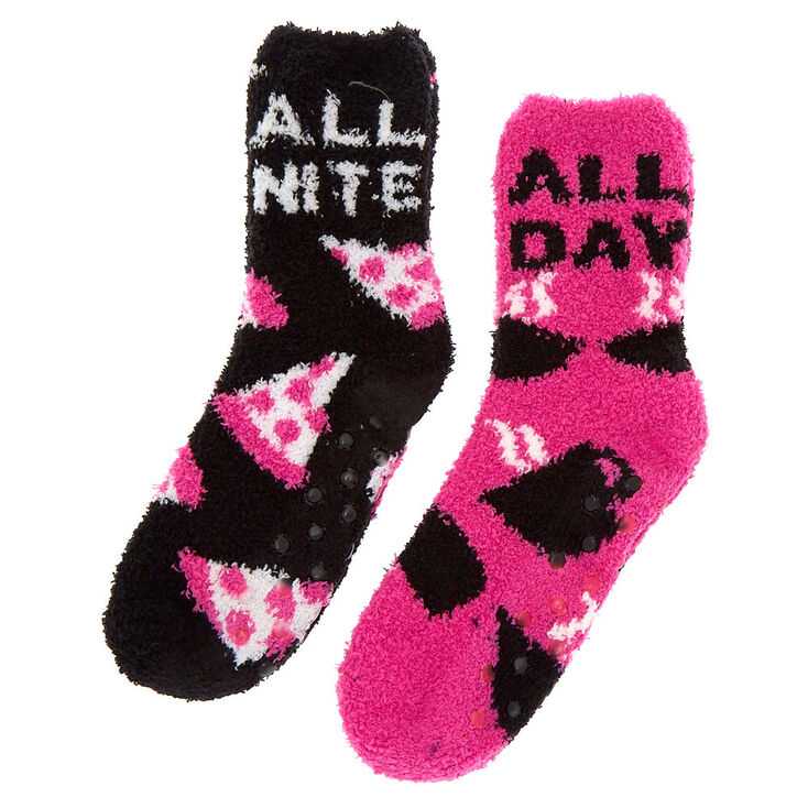 All Day All Nite Fuzzy Socks - 2 Pack,