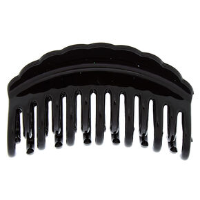 Medium Double Tooth Hair Claw - Black,