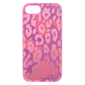 Pink Leopard Print Protective Phone Case - Fits iPhone 6/7/8,