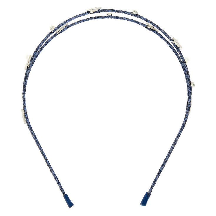 Night Sky Two Row Headband - Navy Blue,