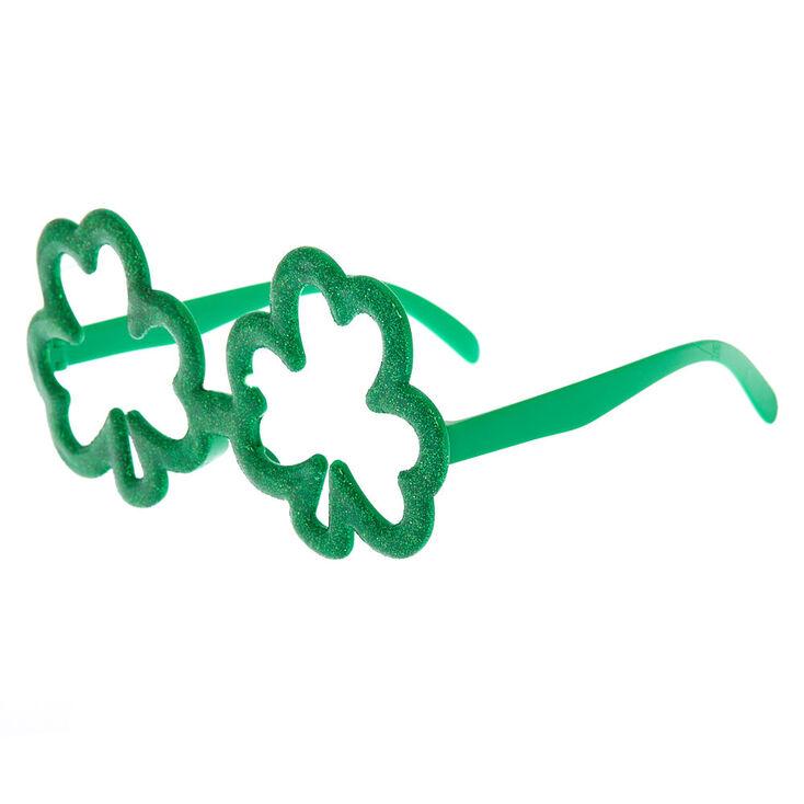 Glitter Shamrock Frames - Green,
