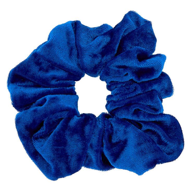 Large Velvet Scrunchie - Royal Blue,