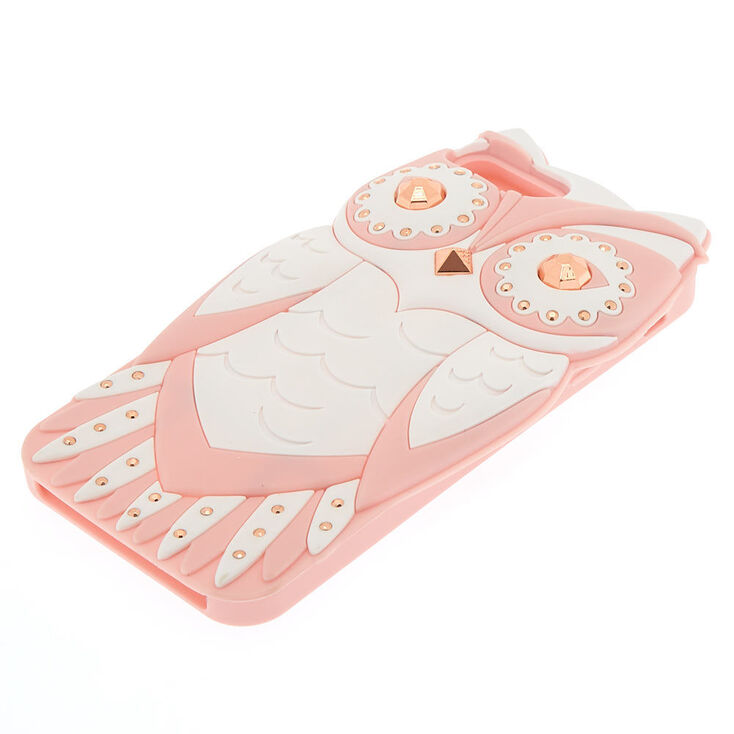Pink Glam Owl Phone Case - Fits iPhone 6/7/8/SE,