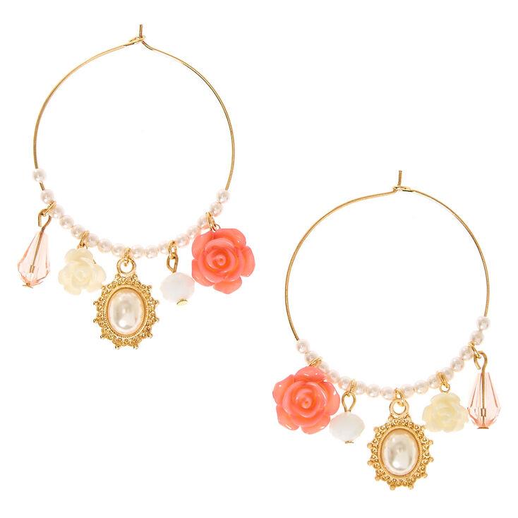 Romantic Charm Hoop Earrings,