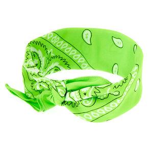 Paisley Bandana Headwrap - Lime Green,