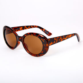 Round Mod Tortoiseshell Sunglasses - Brown,
