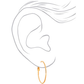 Mixed Metal Hoop Earrings - 6 Pack,