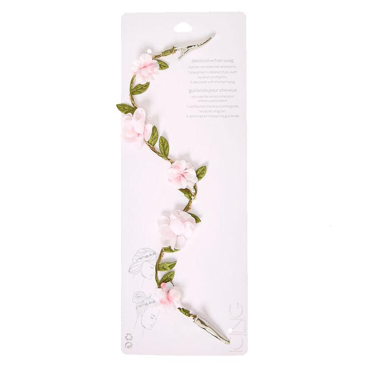 Pink Ivy Clip On Flower Crown,