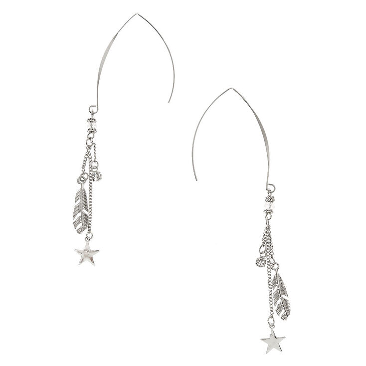 Celestial Charm Threaded Drop Earrings