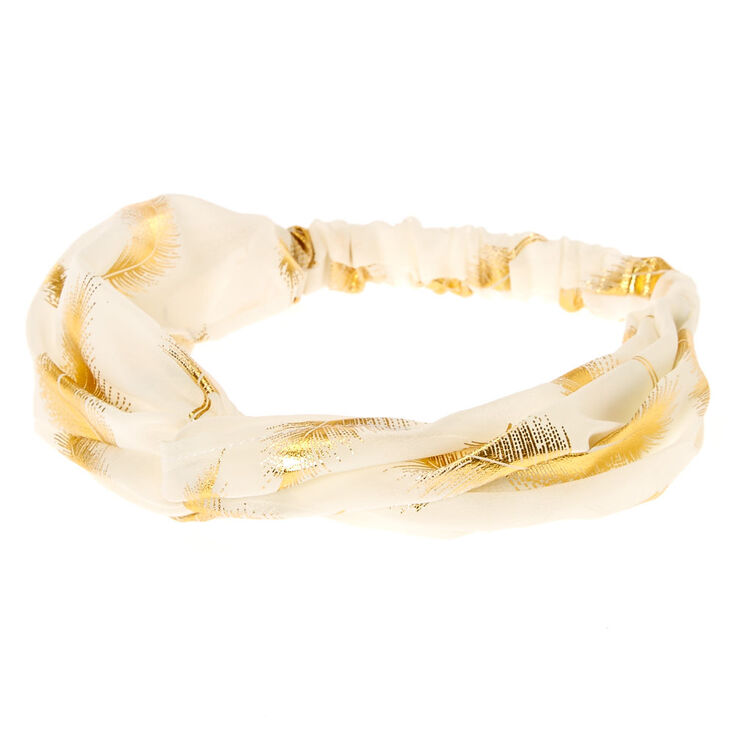 Gold Leaf Ivory Headwrap,