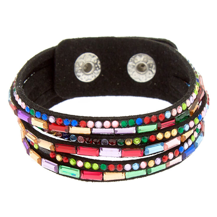 Studded Layered Wrap Bracelet - Rainbow,