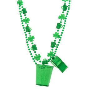 2 Pack St. Patrick's Day Shot & Whistle Necklace Set,