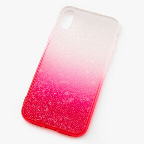 Bright Pink Ombre Caviar Glitter Phone Case - Fits iPhone XR,