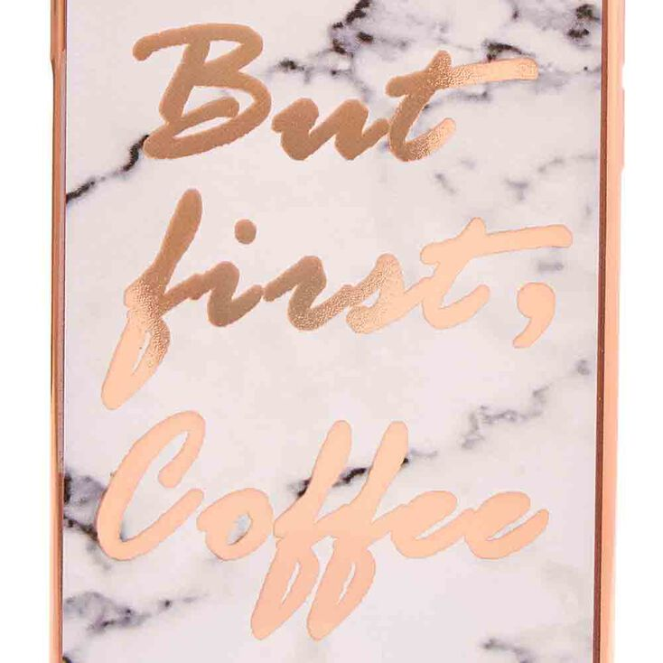 Coffee First Marble Print Phone Case - Fits iPhone 6/7/8/SE,