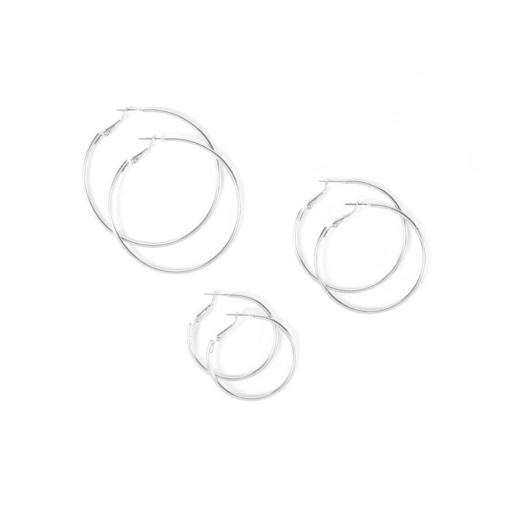 Medium Hoop Earrings  - 3 Pack,