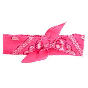 Neon Pink Bandana Headwrap,