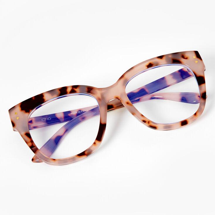 Blue Light Reducing Retro Tortoiseshell Clear Lens Frames - Ivory,
