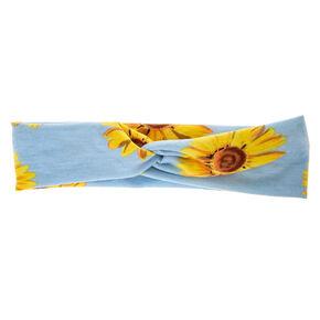 Wide Jersey Sunflower Headwrap,