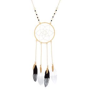 Gold Dreamcatcher Long Pendant Necklace,