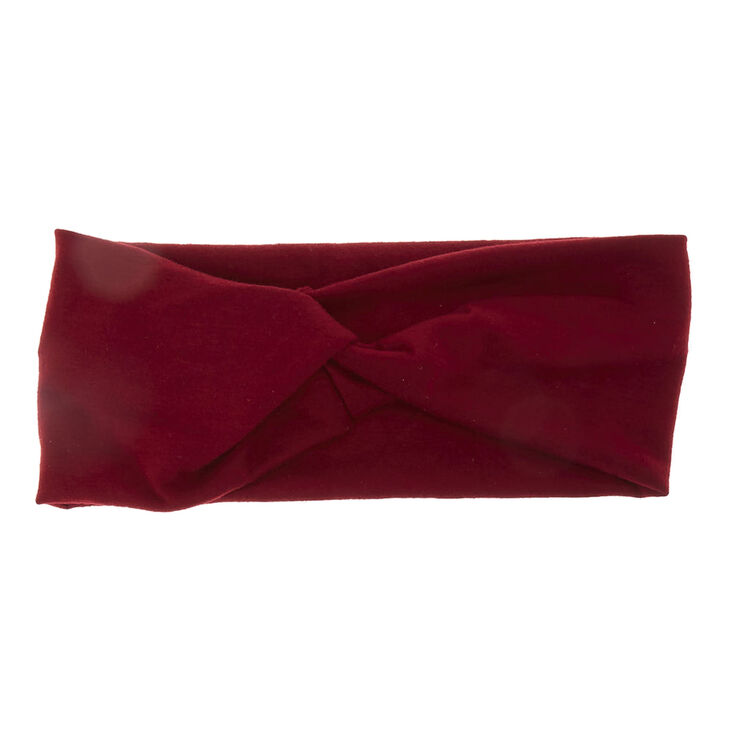 Twisted Wide Jersey Headwrap - Burgundy,