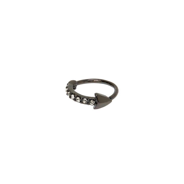 Hematite 20G Crystal Arrow Cartilage Hoop Earring,