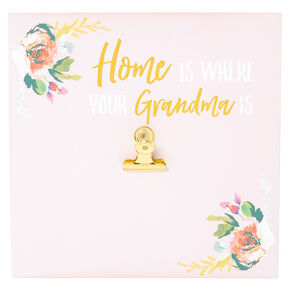 Home Is Where Your Grandma Is Clip Wall Art - Pink,