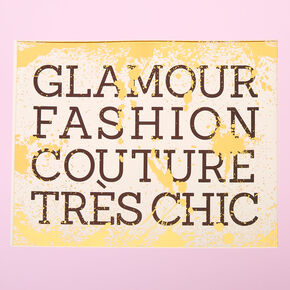 Glamour Fashion Wall Art,