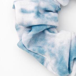Medium Denim & White Tie Dye Hair Scrunchie,