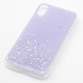 Lavender Glitter Star Liquid Fill Phone Case - Fits iPhone XR,